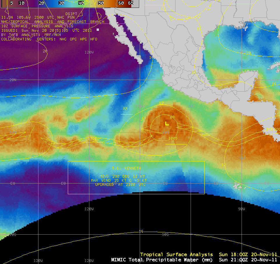 MIMIC Total Precipitable Water (TPW) product (click image to play animation)