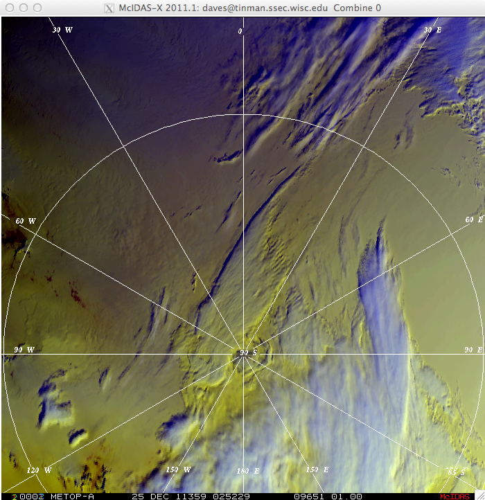 MetOp-A false color Red/Green/Blue (RGB) image