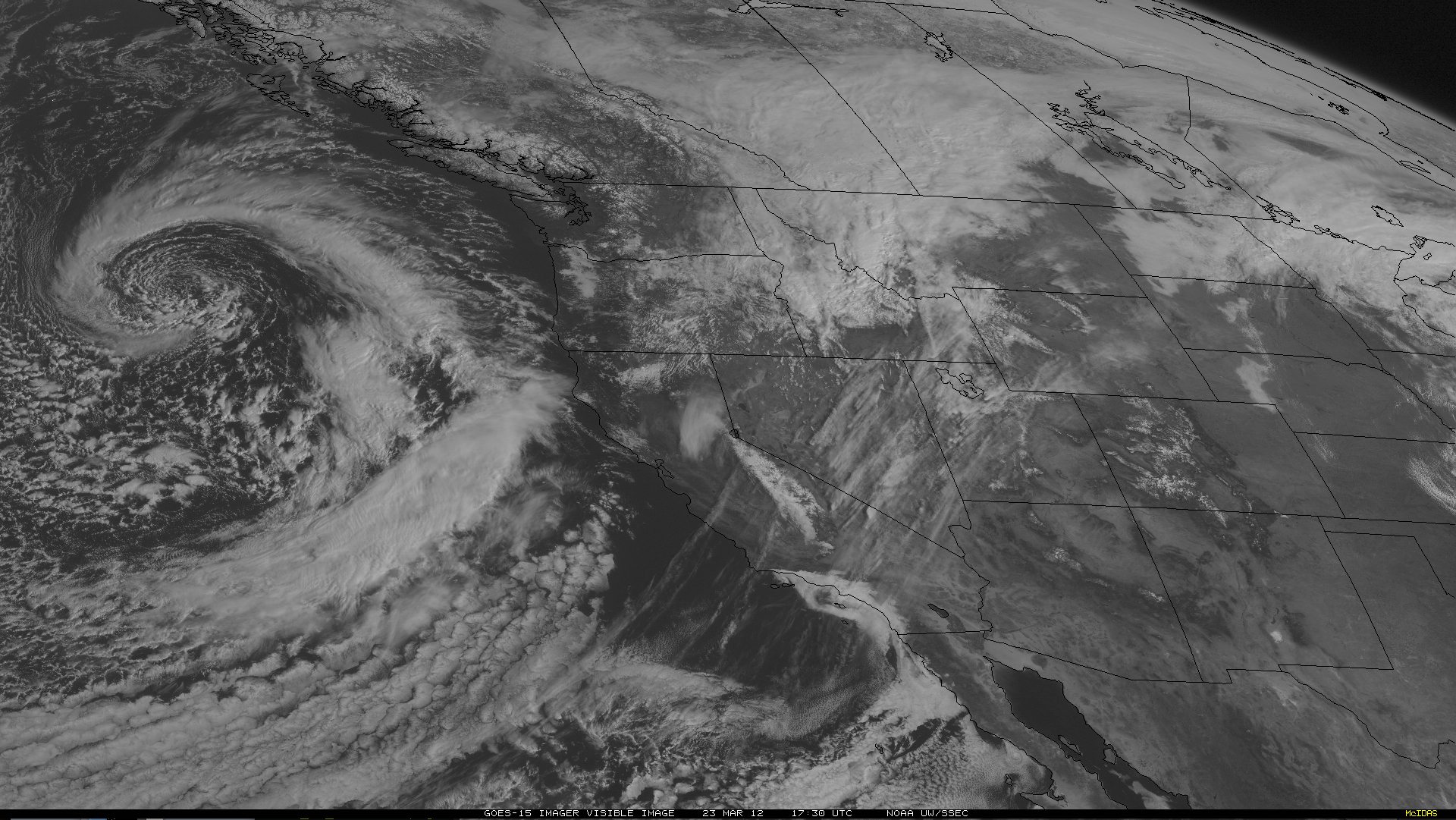 GOES-15 0.63 µm visible channel imsage (click image to play animation)