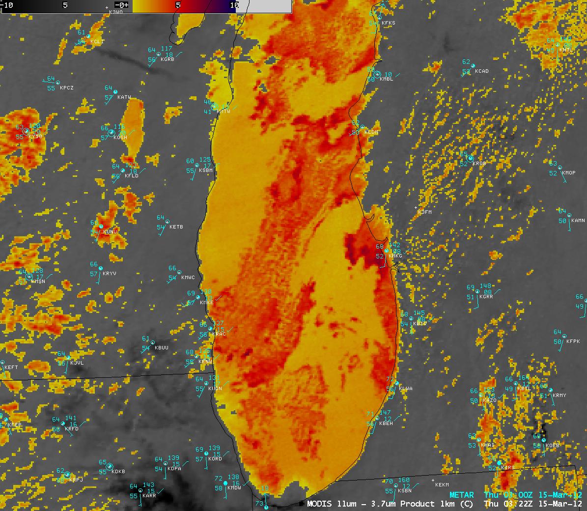 MODIS fog/stratus product