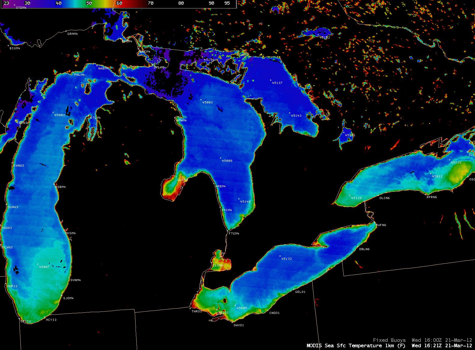 MODIS Sea Surface Temperature product