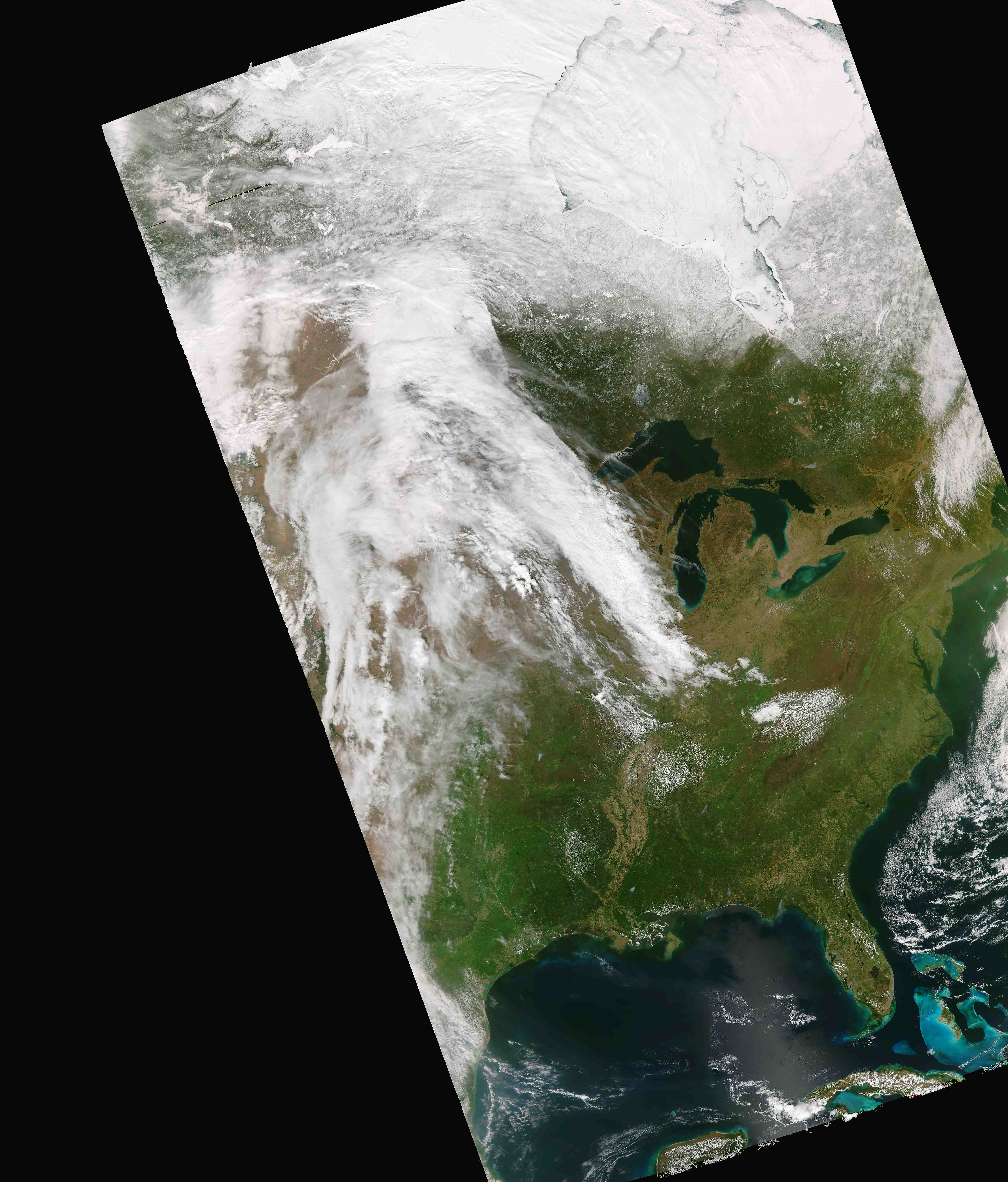 Suomi NPP VIIRS true-color Red/Green/Blue (RGB) image