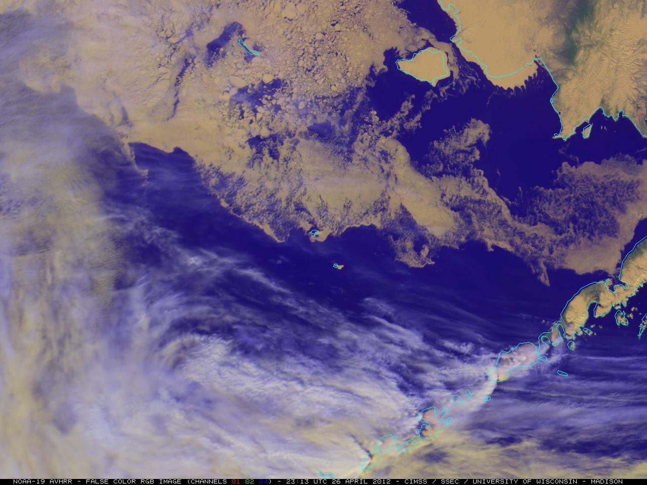 NOAA-19 AVHRR false-color Red/Green/Blue (RGB) image