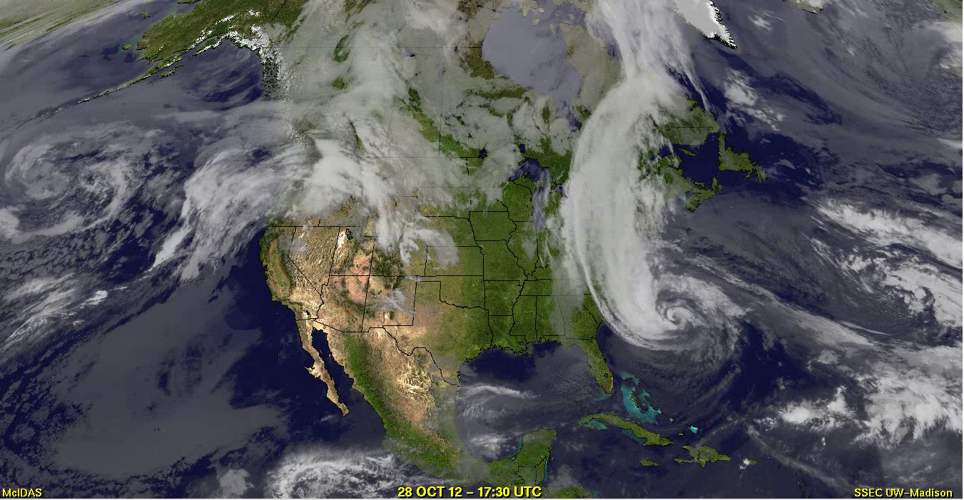 GOES-West / GOES-East composite IR images (click image to play QuickTime movie)