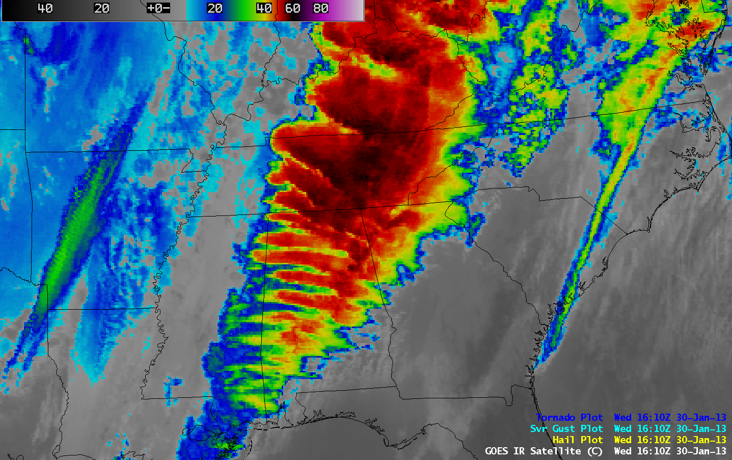 GOES-13 10.7 µm IR channel images (click image to play animation)