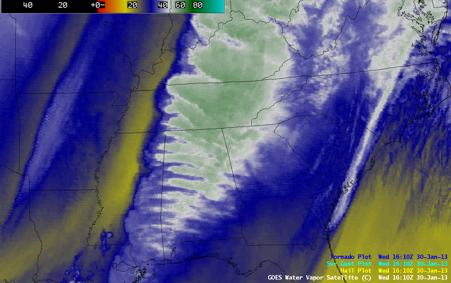 GOES-13 6.5 µm water vapor channel images (click image to play animation)