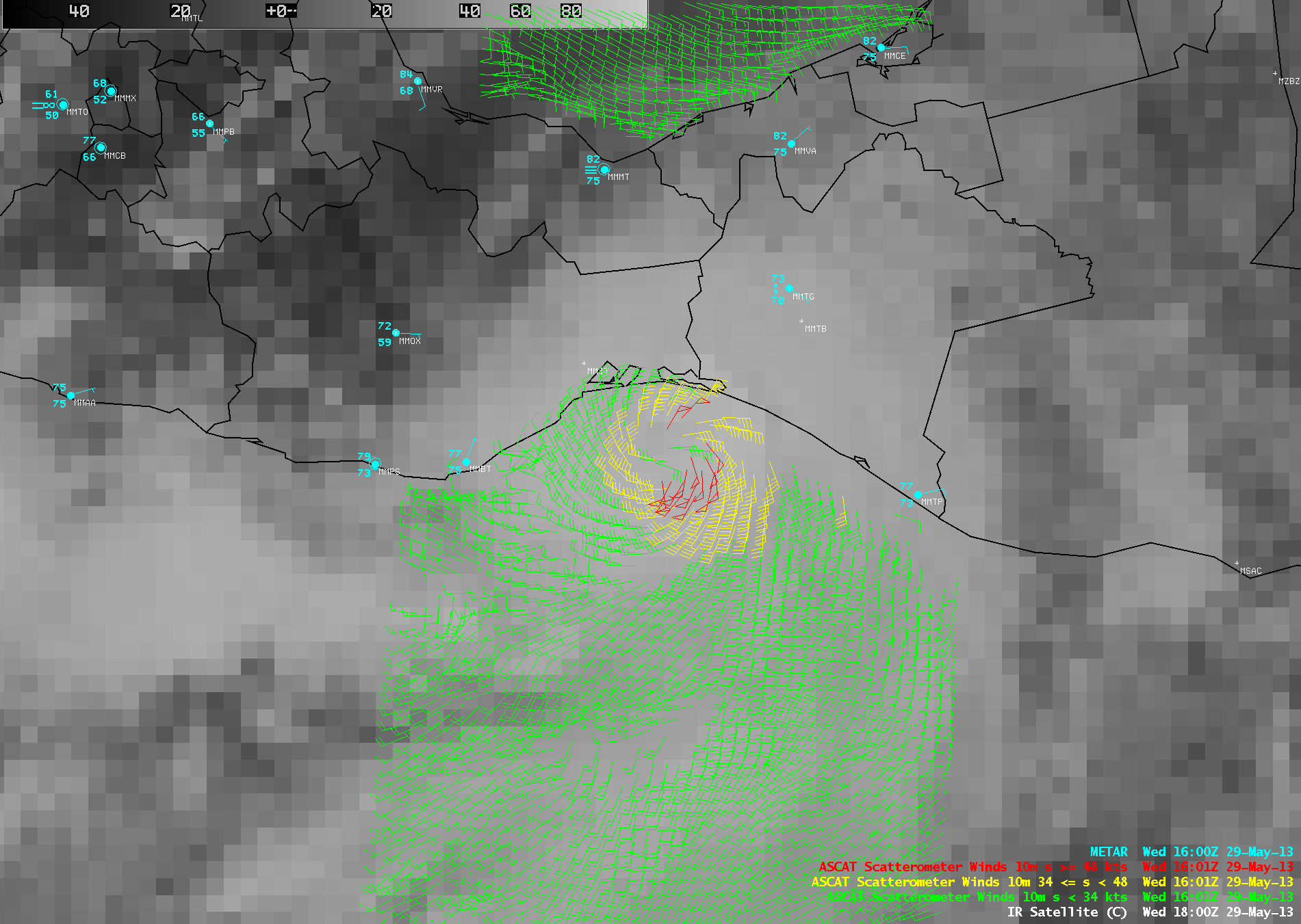 ASCAT surface scatterometer winds