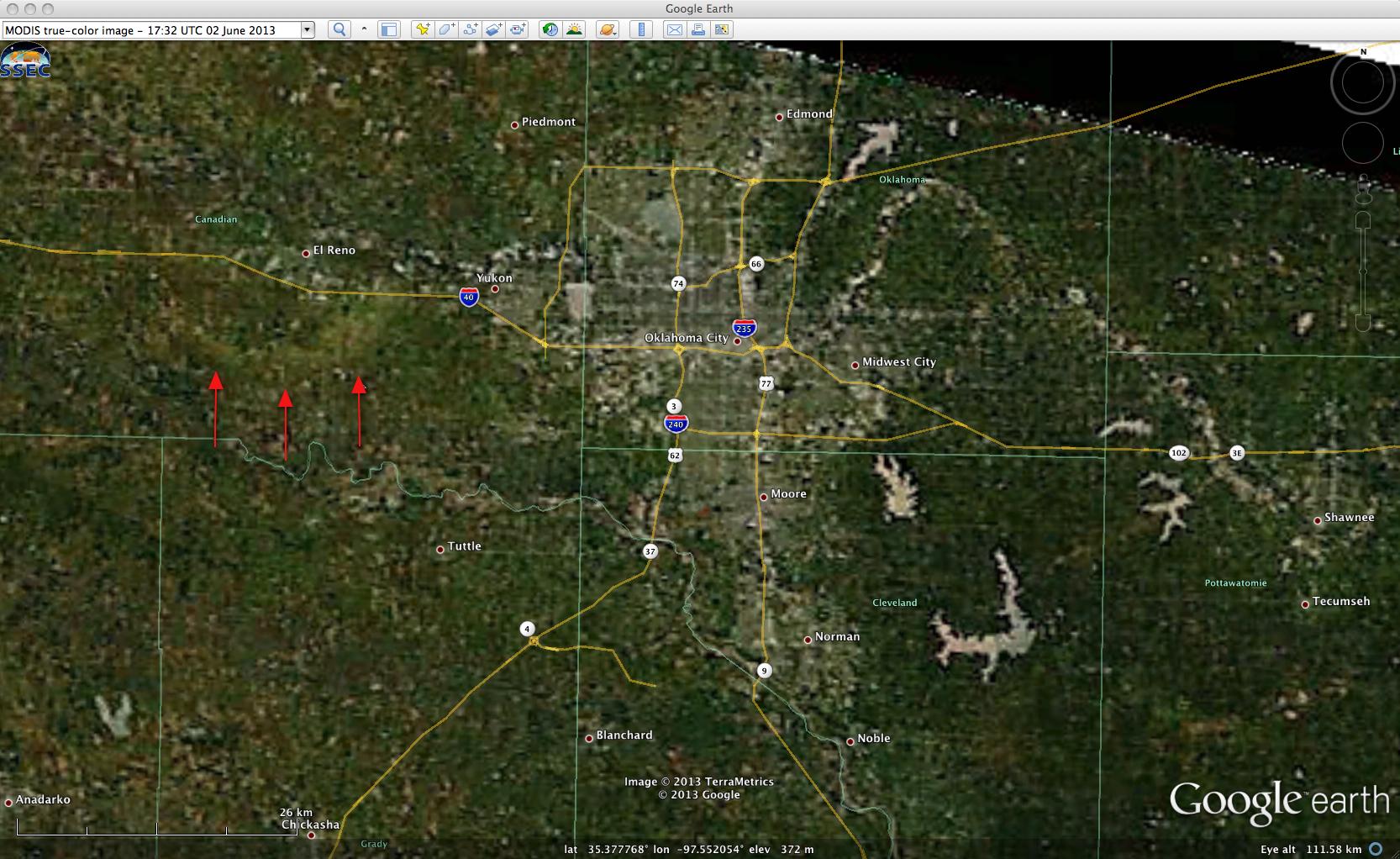 MODIS true-color RGB image (viewed using Google Earth)
