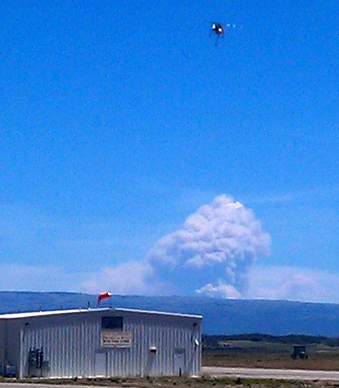 Photo of West Fork Complex fire