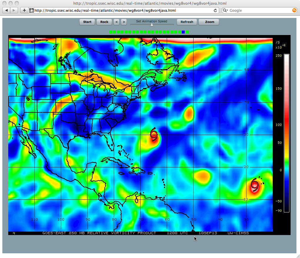 850 hPa relative vorticity product (04-10 September) - click image to play animation