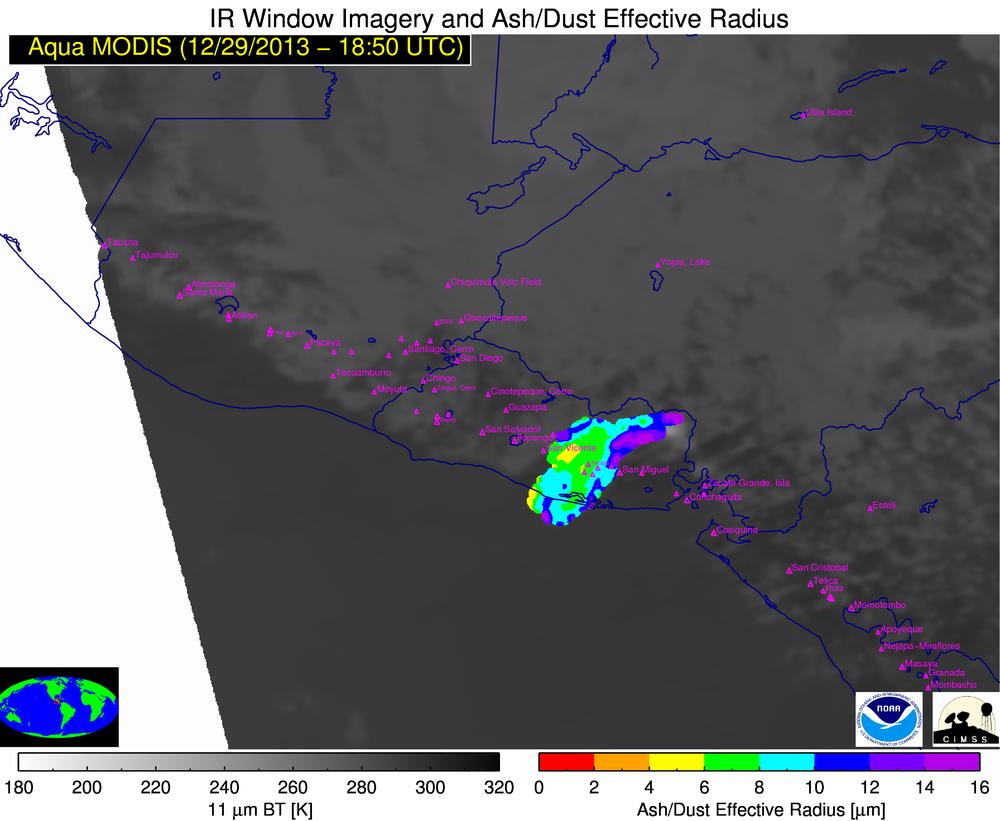 Aqua MODIS Dust/Ash Particle Effective Radius product