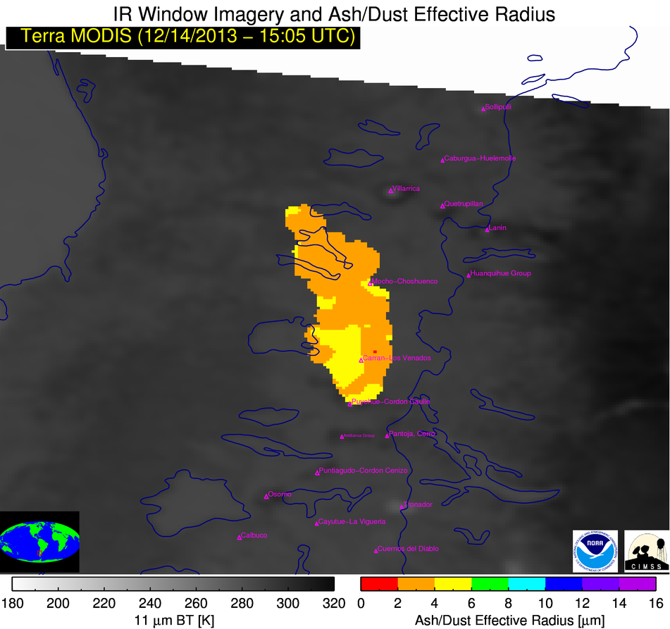 Terra MODIS Ash Particle Effective Radius product