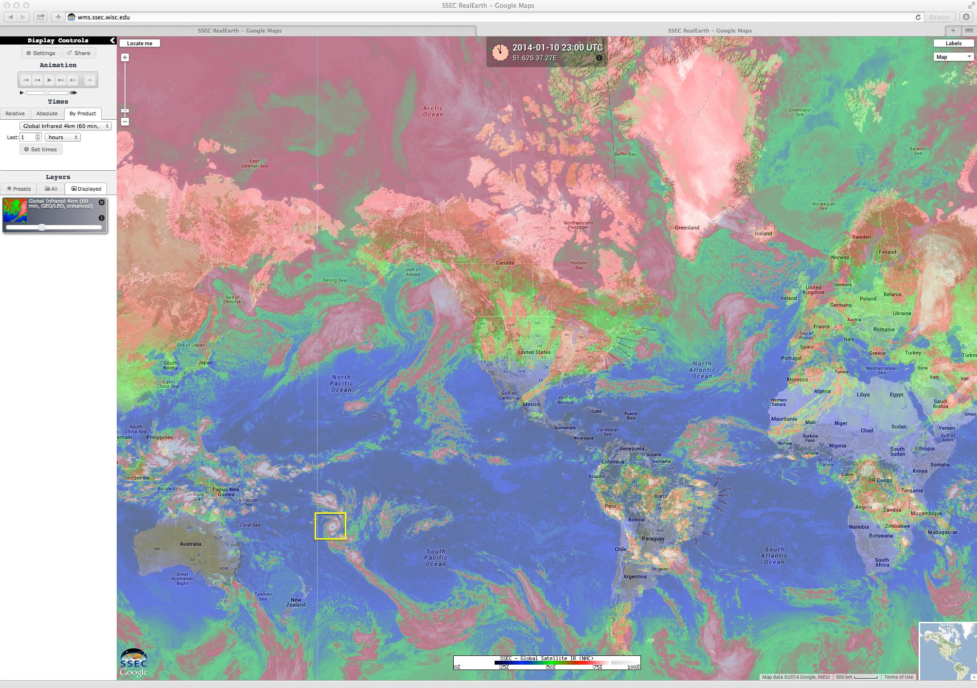 Global IR image composite