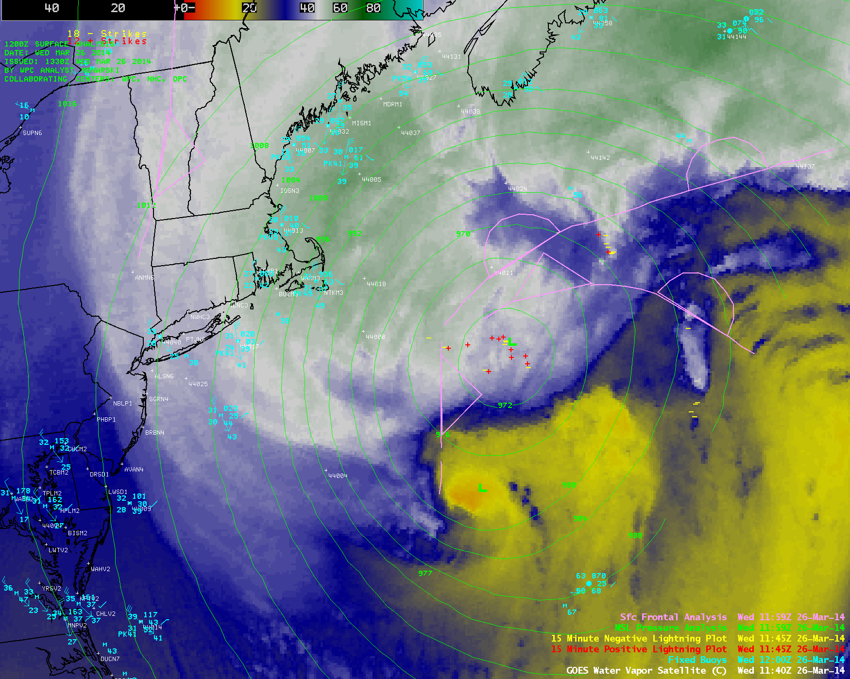 GOES-13 6.5 µm water vapor channel images (click to play animation)