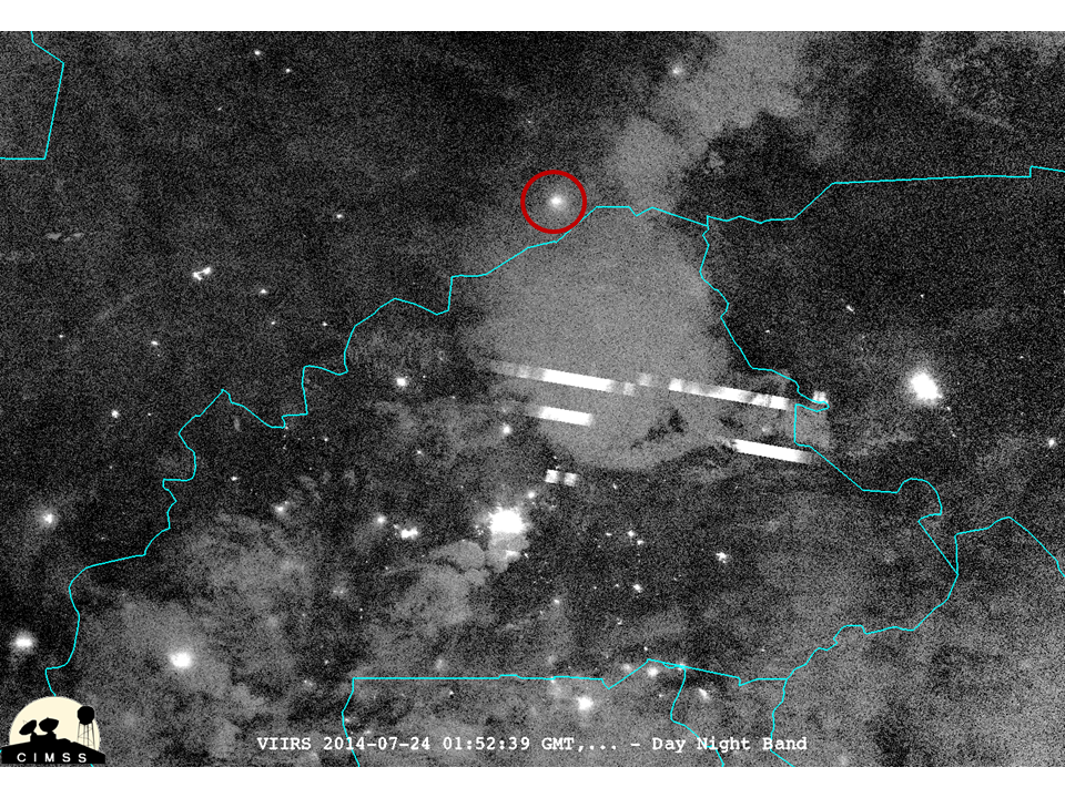 Suomi NPP VIIRS 0.7 µm Day/Night Band image (click to enlarge)