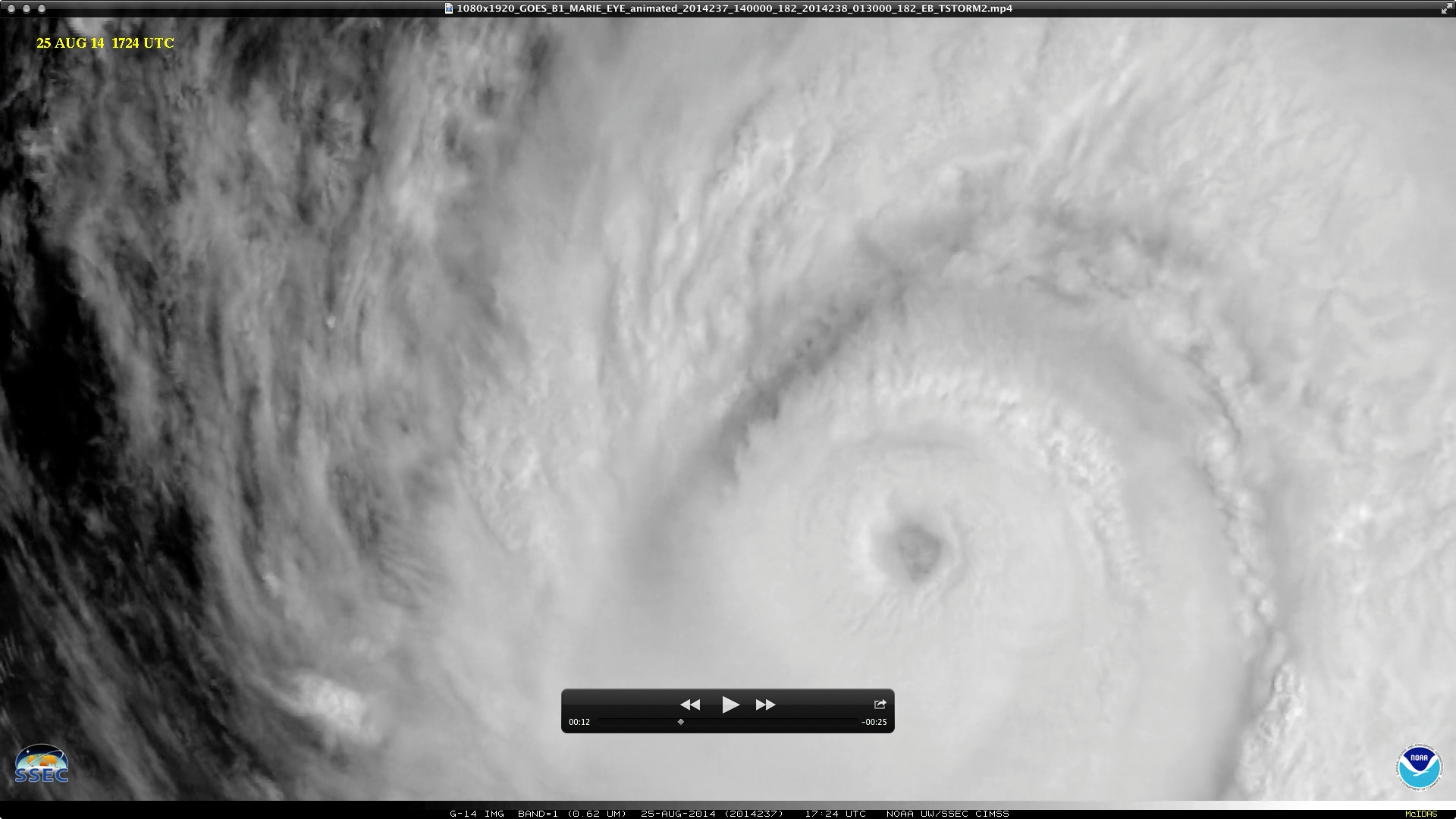 GOES-14 0.63 µm visible channel images (click to play YouTube video)