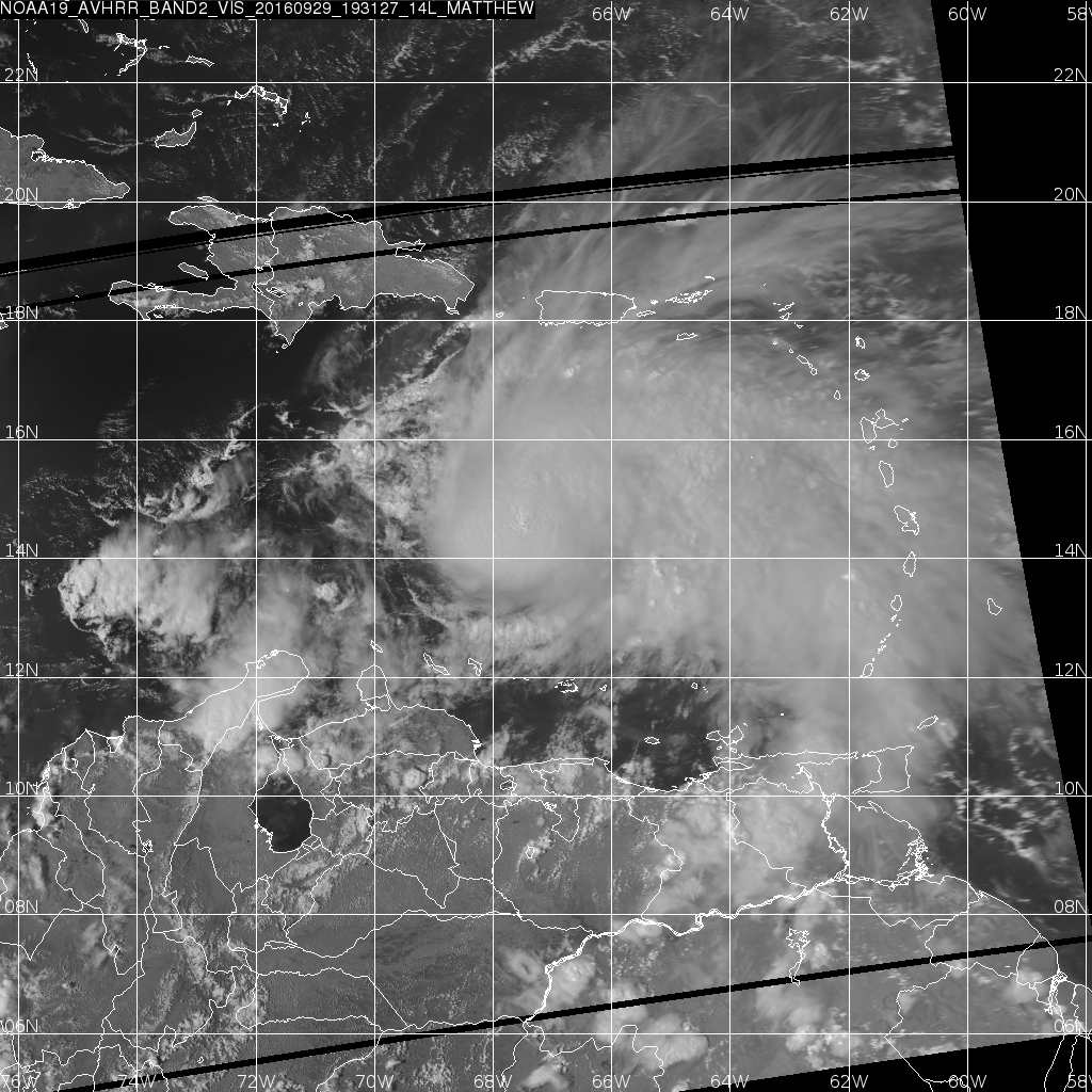 NOAA-19 Visible (0.63 µm) imagery, 1931 UTC on 29 September 2016 [Click to enlarge]