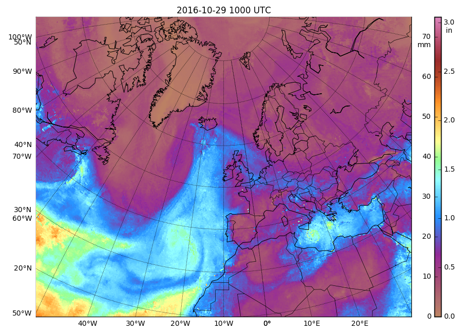 MIMIC Total Precipitable Water product [click to play animation]