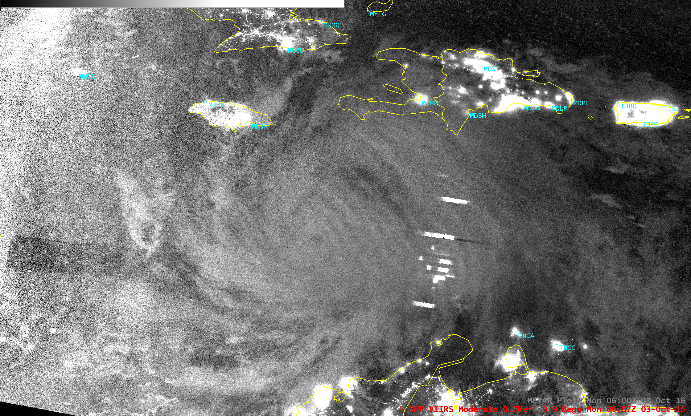 Suomi NPP VIIRS Day/Night Band (0.70 µm) image [Click to enlarge]