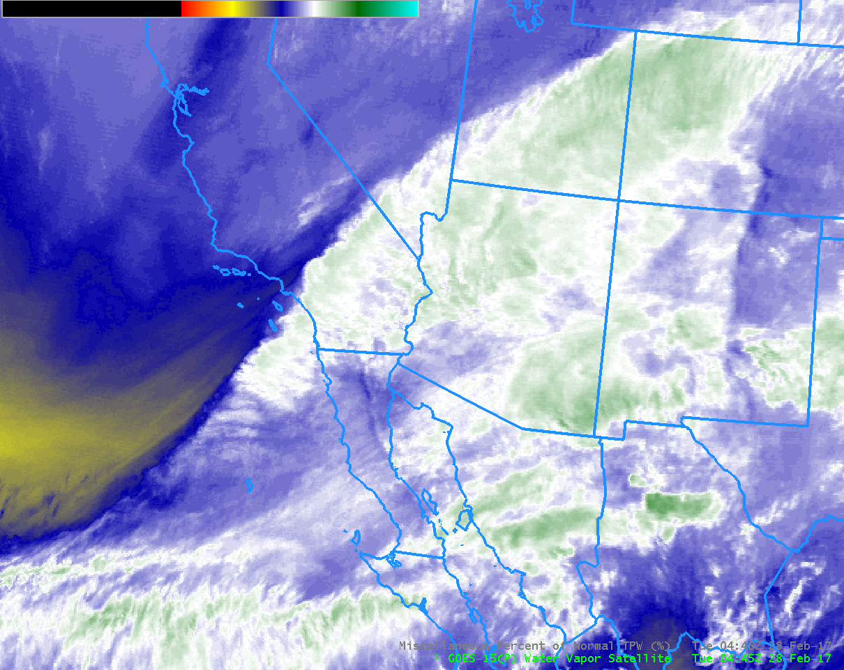 GOES-15 Water Vapor (6.5 µm) images [click to play animation]