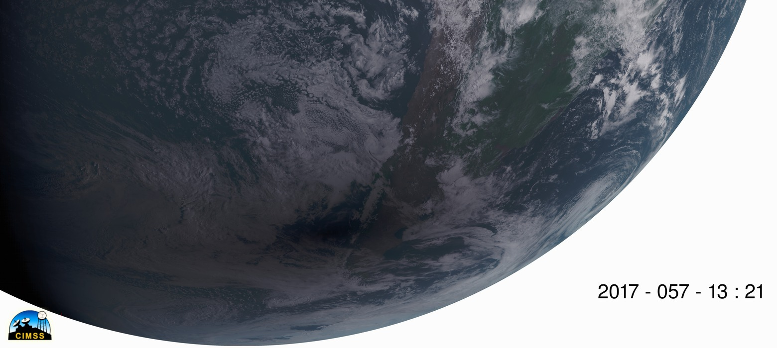 GOES-16 true-color images [click to play animation]