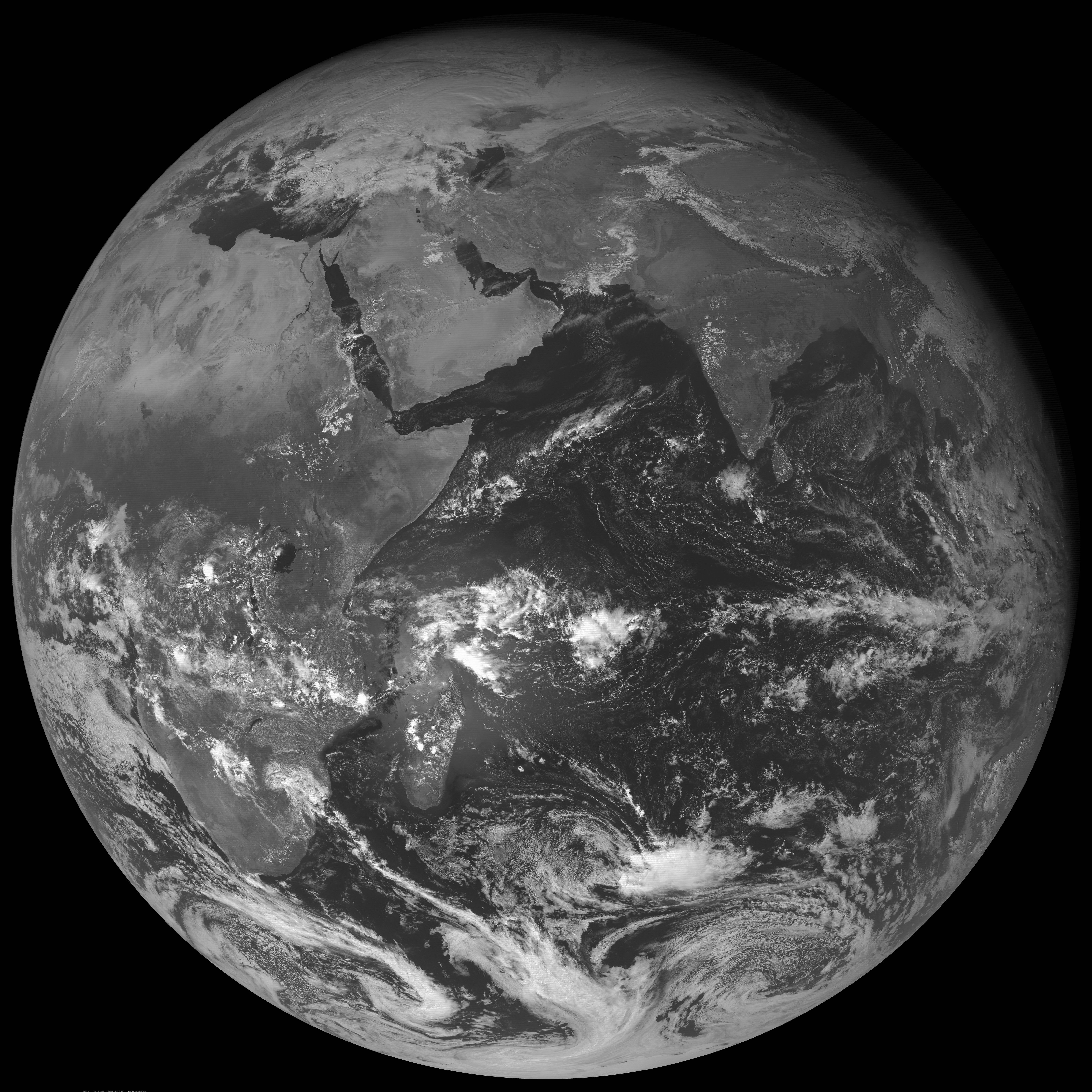 GOES-1 Visible (0.65 µm) image, 0930 UTC on 01 January 1979 [click to enlarge]