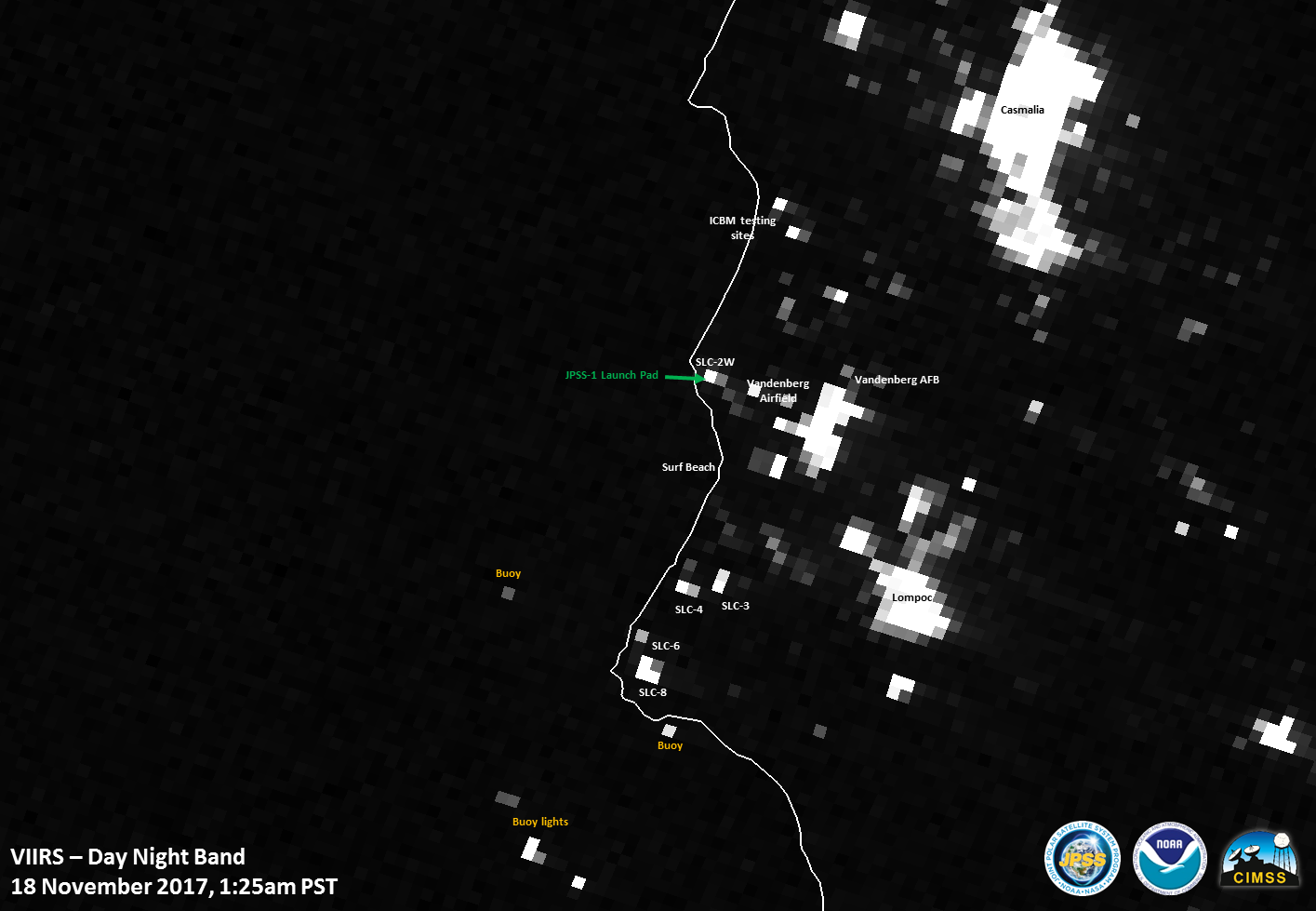 Suomi NPP VIIRS Day/Night Band (0.7 µm) image [click to enlarge]