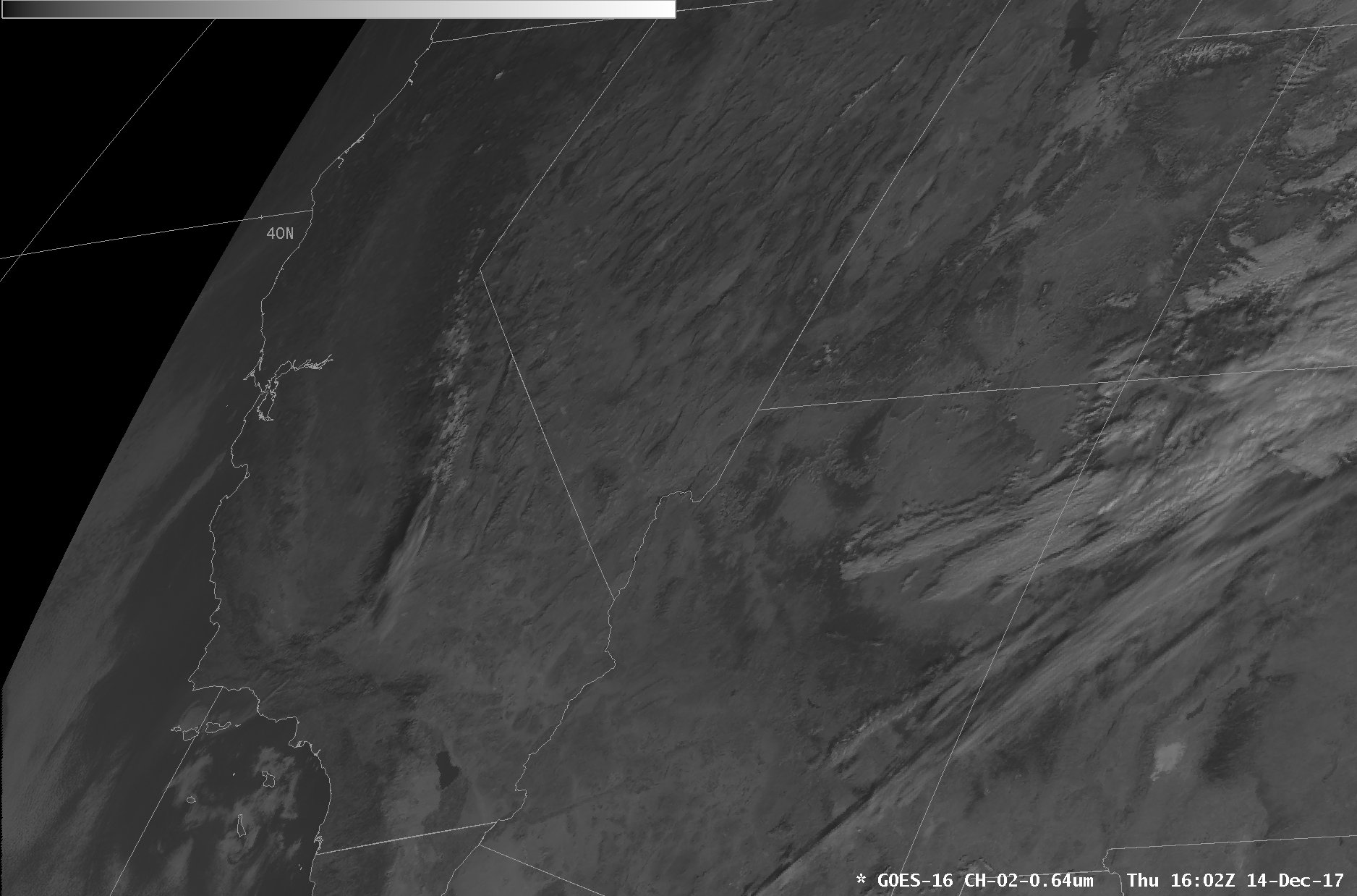 GOES-16 Visible (0.64 µm) image [click to enlarge]
