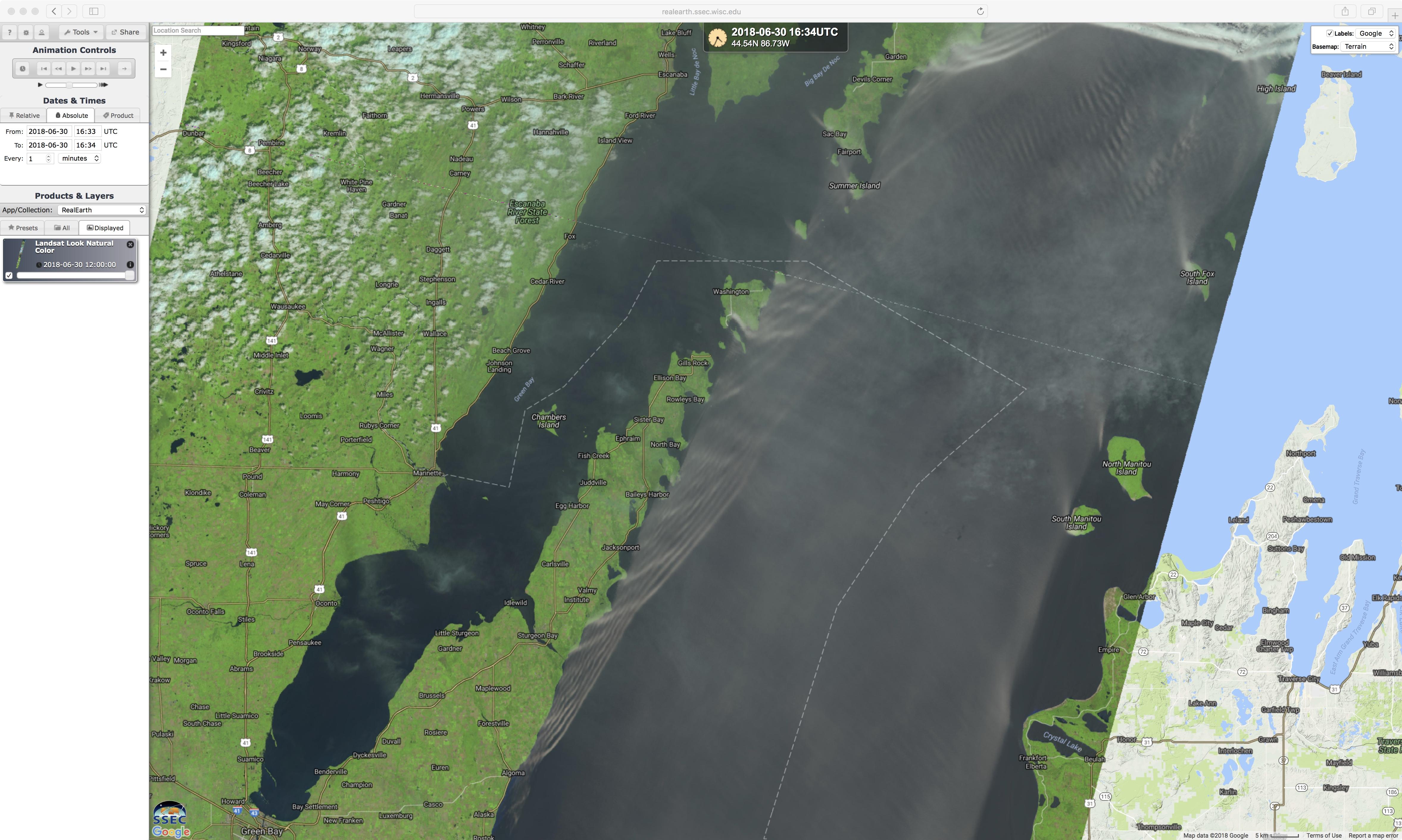 Landsat-8 false-color RGB image [click to enlarge]