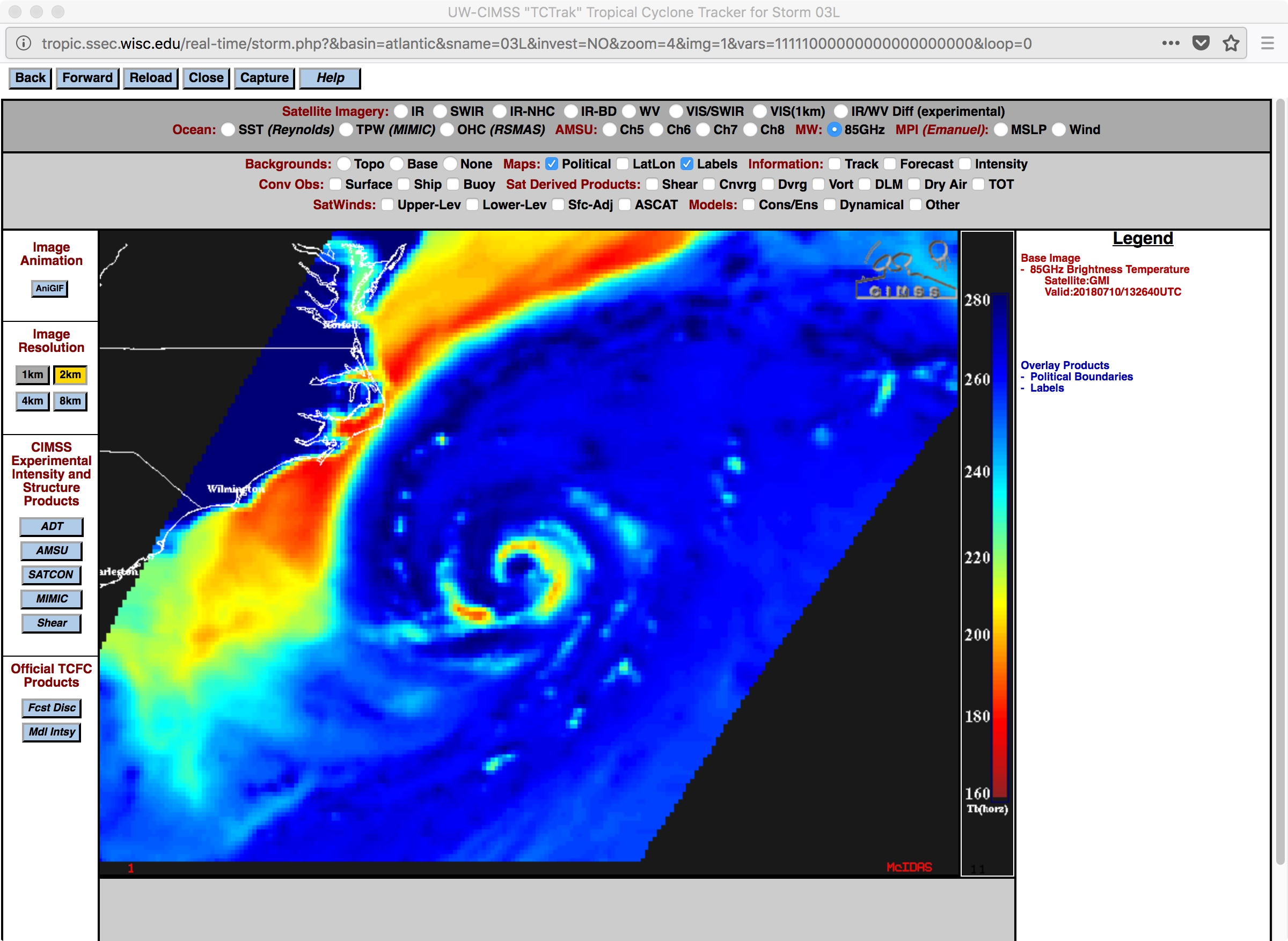 GPM GMI Microwave (85 GHz) image [click to enlarge]