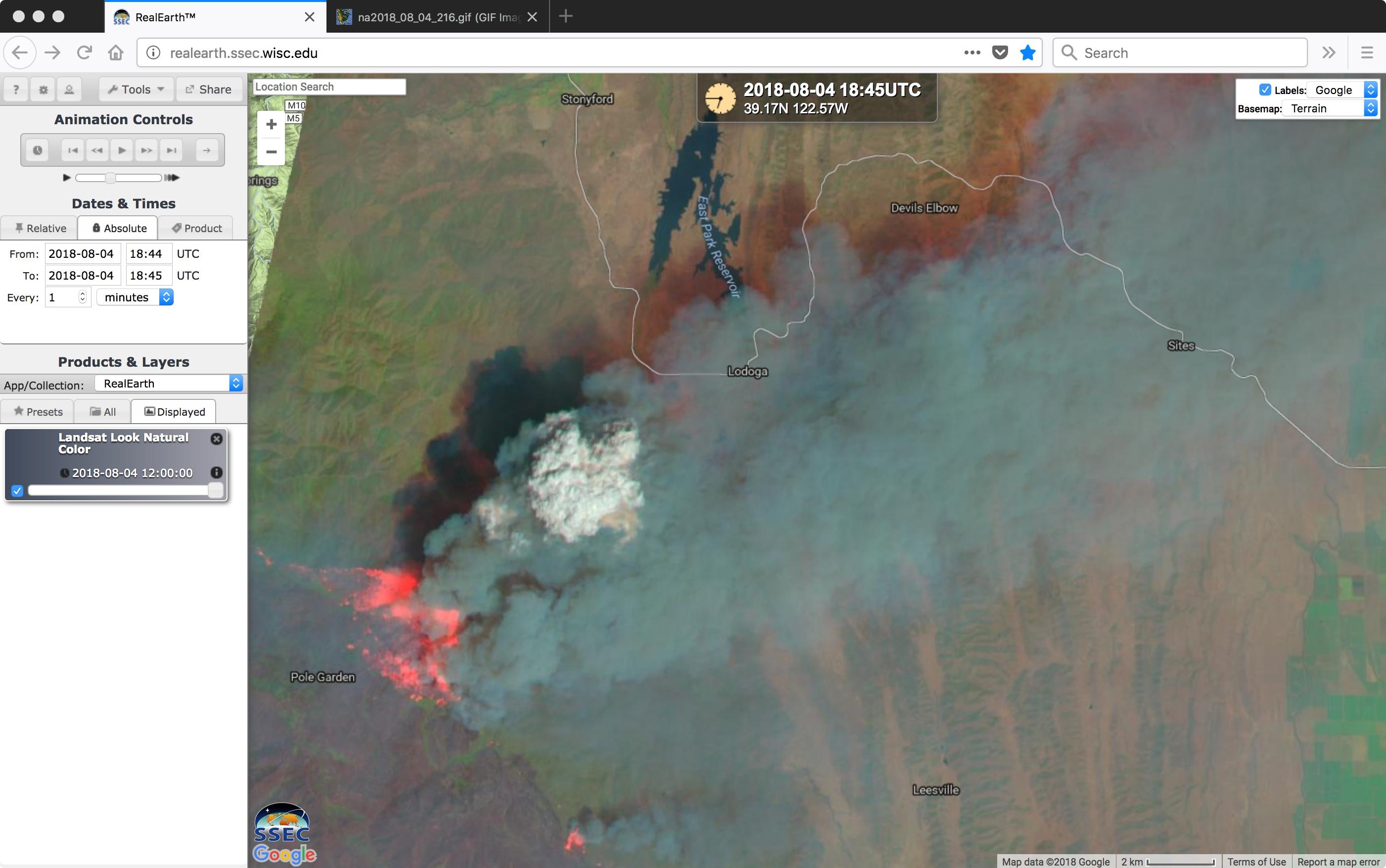 Landsat-8 False Color image [click to enlarge]