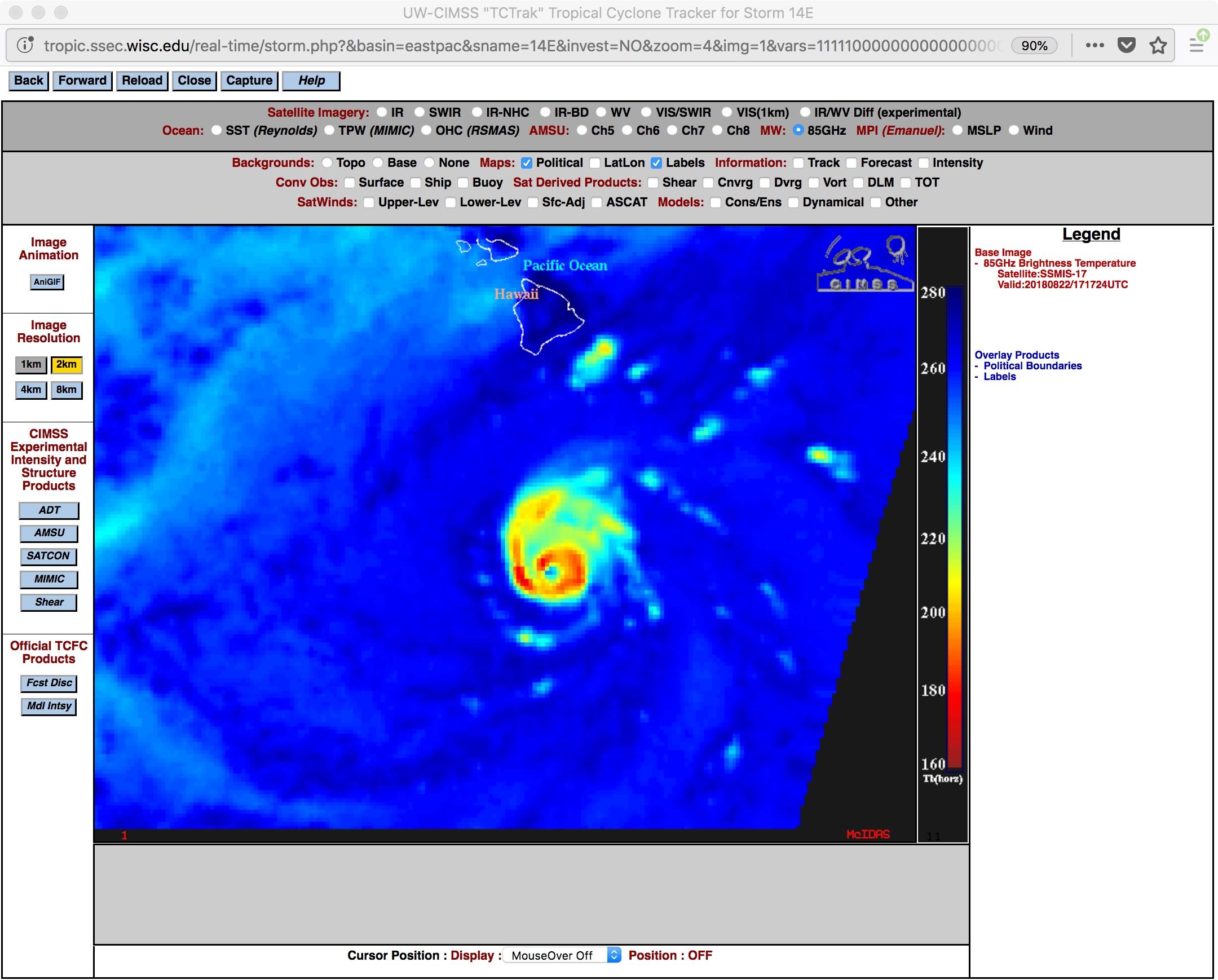 DMSP-17 SSMIS Microwave (85 GHz) image at 1717 UTC [click to enlarge]