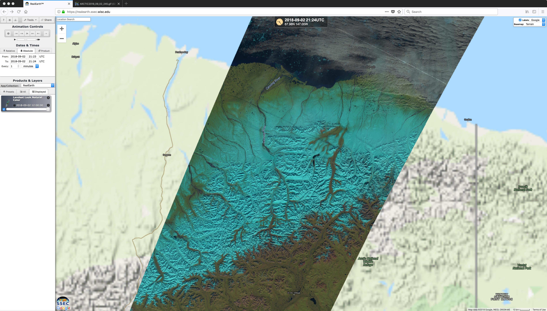Landsat-8 False Color RGB image [click to enlarge]
