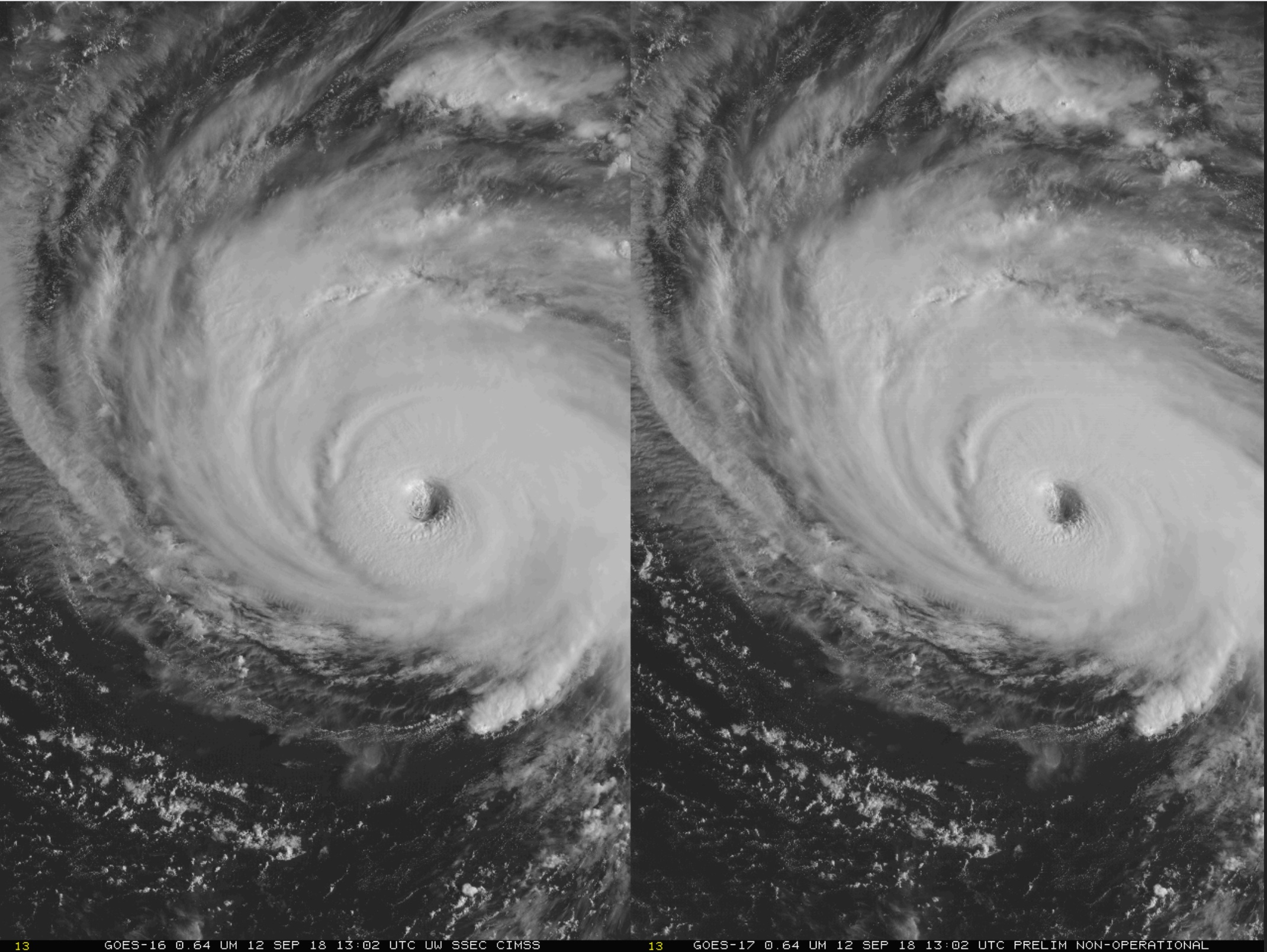 Stereoscopic animation using GOES-16 and GOES-17