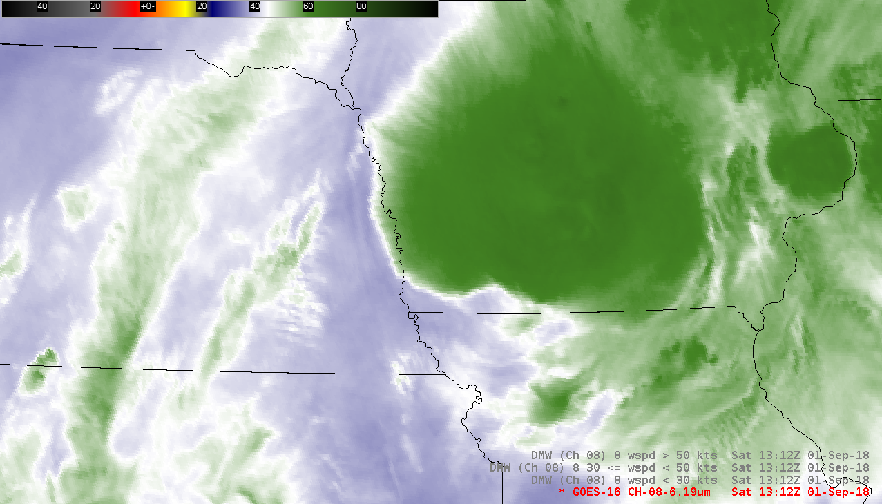 GOES-16 Upper-level Water Vapor (6.2 µm) images [click to play MP4 animation]