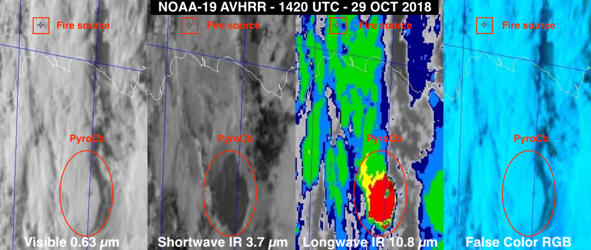 NOAA-19 AVHRR imagery at 1420 UTC [click to enlarge]