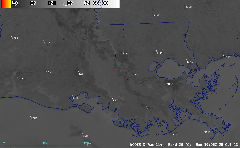 Aqua MODIS Shortwave Infrared (3.7 µm) image [click to enlarge]