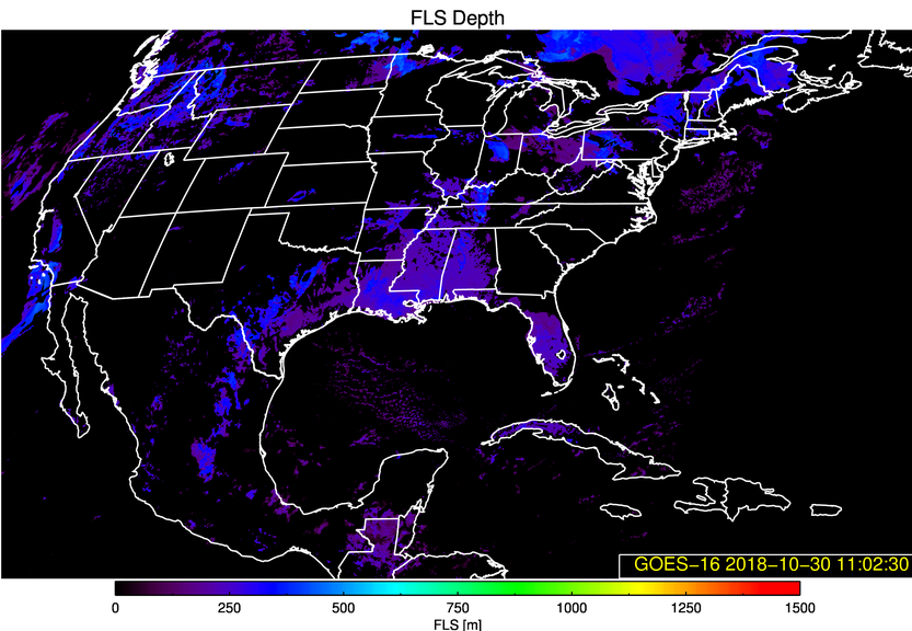 GOES-16 Fog/Low Stratus Depth product [click to play animation | MP4]