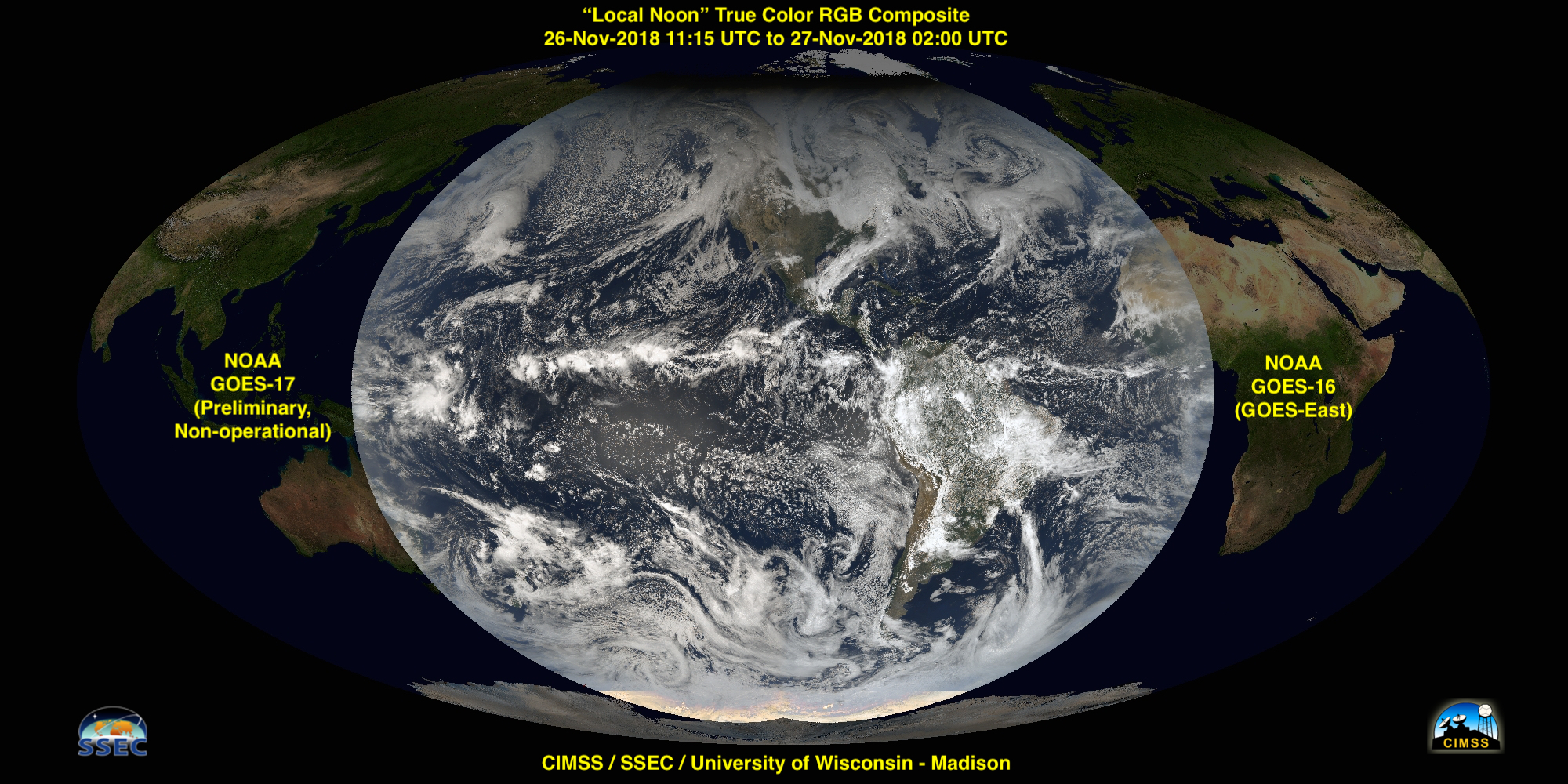 GOES-17 / GOES-16 True Color RGB composite [click to enlarge]