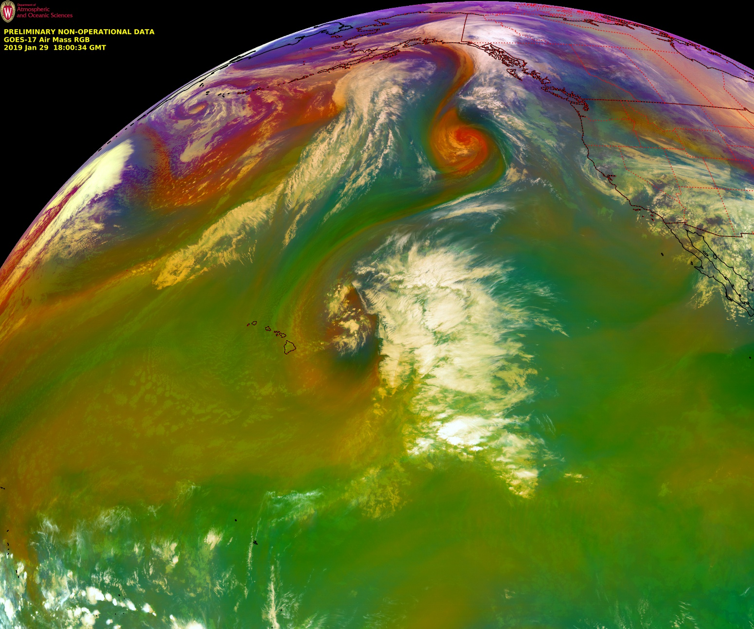 GOES-17 Air Mass RGB images [click to play animation | MP4]