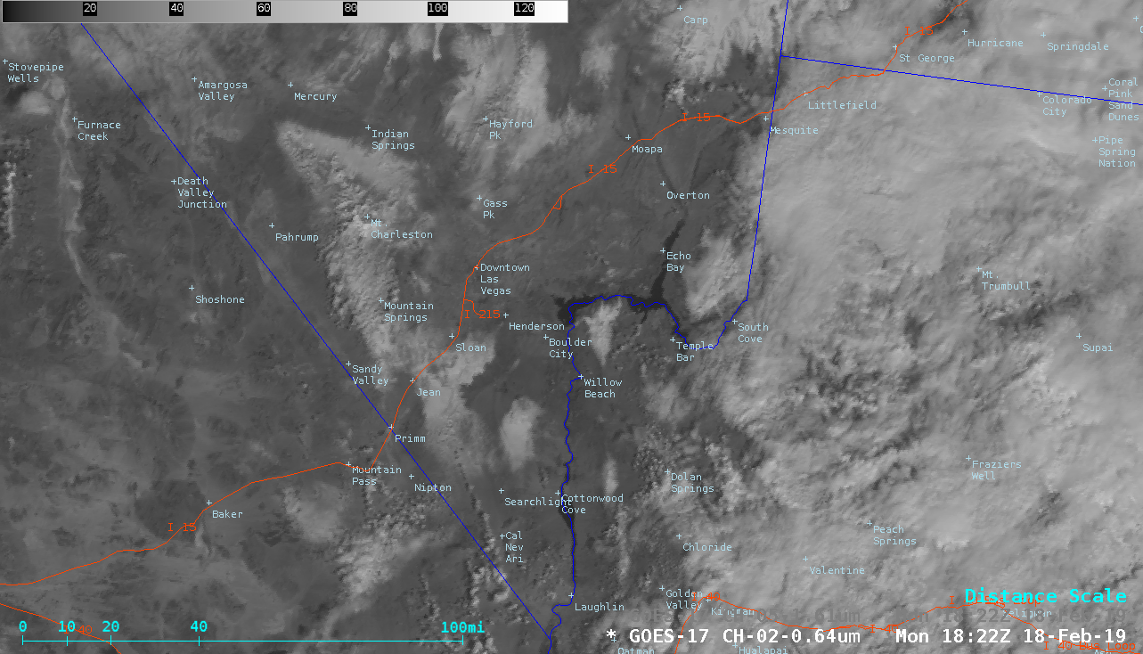 """GOES-17 """"Red"""" Visible (0.64 µm) and Near-Infrared """"Snow/Ice (1.61 µm) images [click to play animation   MP4]"""