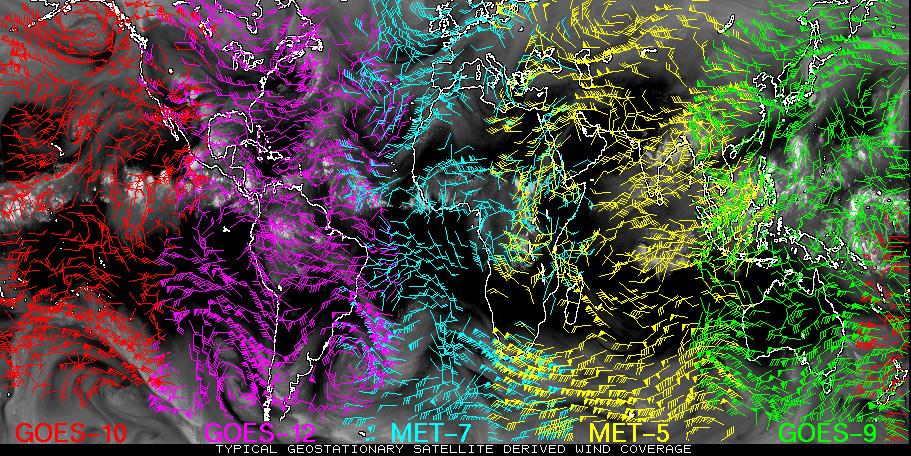 Module Satellite Winds - World satellite weather map